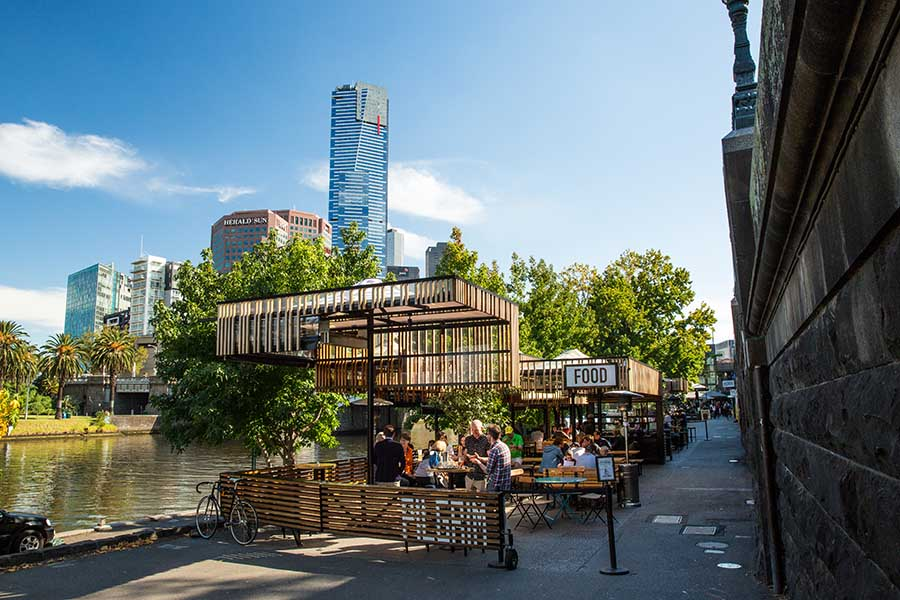 Pilgrim Bar by the yarra, perfect for your private function.